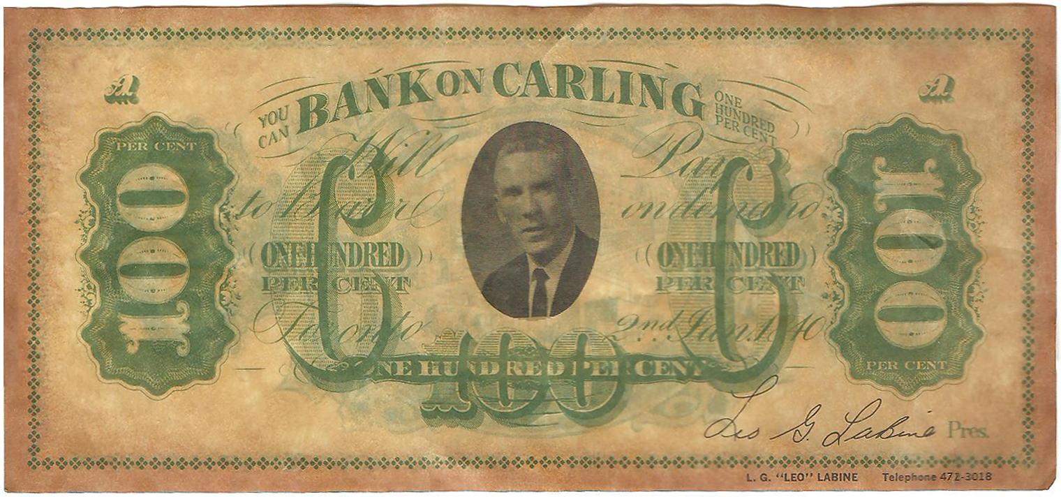 Carling Bill_L.G. Labine_Front