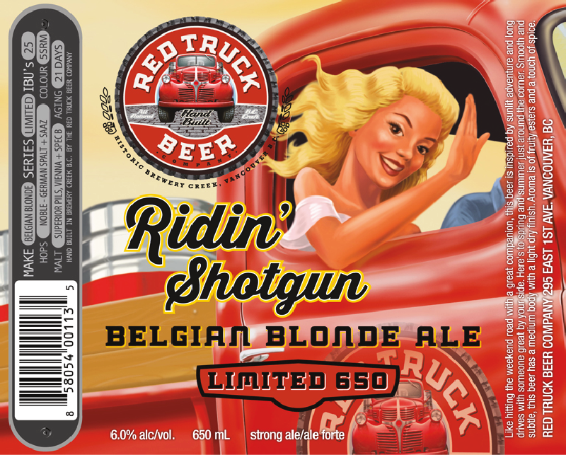 "Ridin"" Shotgun Belgian Blonde Ale"